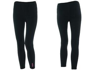 Reebok Jeunes Junior Filles Legging Long En Coton Noir Ebay