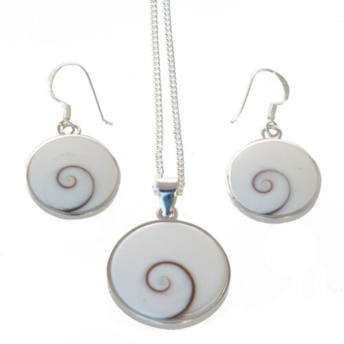 Schmuck Set Anhänger Kette Ohrringe Baum des Lebens Shiva Auge  925 Silber