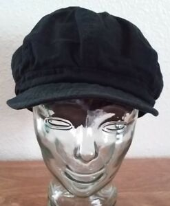 Unisex-Visor-Newsboy-Hat-Cap-Men-Women-Black