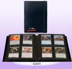 Ultra-Pro-4-POCKET-PRO-BINDER-BLACK-20-Pages-amp-80-Cards-GAMING-TRADING