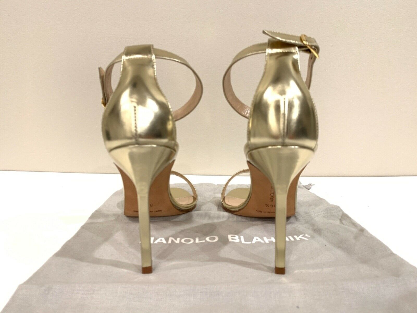Manolo Blahnik Chaos Ankle Strap Heels Sandals or  36 36 36 1 2 Authentic New 721904