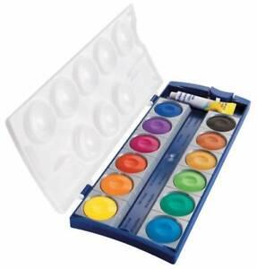 PELIKAN-Farbkasten-K12-Tuschkasten-Wasserfarbe-Deckfarbkasten-12-Farben