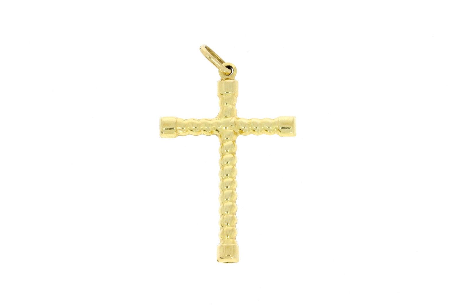 A1070-585er Tricolorgold Kreuzanhänger Maße 45x26 mm Gewicht 2,2 Gramm