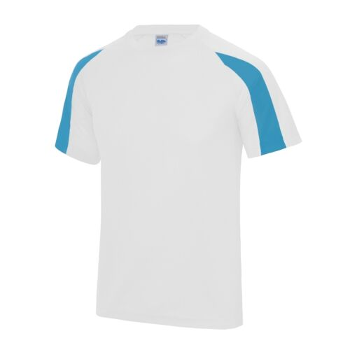 Contrast Cool T Shirt Wickable Breathable Running Training Football Sport Top BN