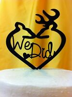 We Did Deer, Buck And Doe Wedding Cake Topper Made In Usa…..ships From Usa