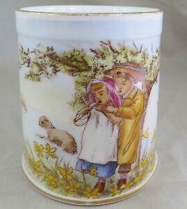 Child-039-s-Nursery-Ware-Mug-Child-Shepherd-and-Shepherdess