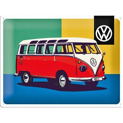 VOLKSWAGEN VW Bulli BUS Publicité Vintage de nostalgie Affiche plaque 041