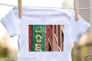 JOE Baby Bodysuit in Photo of Sign - 100% Cotton & Short Sleeve