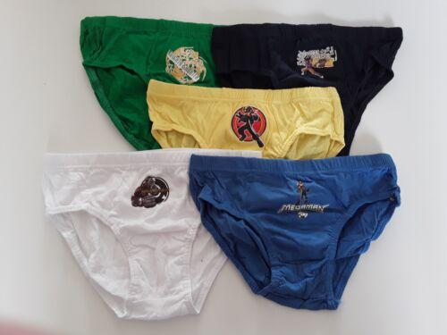 5 Jungenslips 122-152 NEU mit Comicfiguren Unterhosen in 5 Farben 100/% Baumwolle