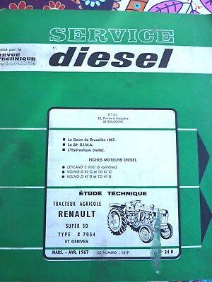Agriculture Manuels, Revues, Catalogues Revue Technique Agricole Tracteur Renault Super 5d Rtma 24d