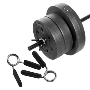 1Pair Gym Barbell Weight Bar Dumbbell Lock Clamp Spring Collar Clips Fitness Gym