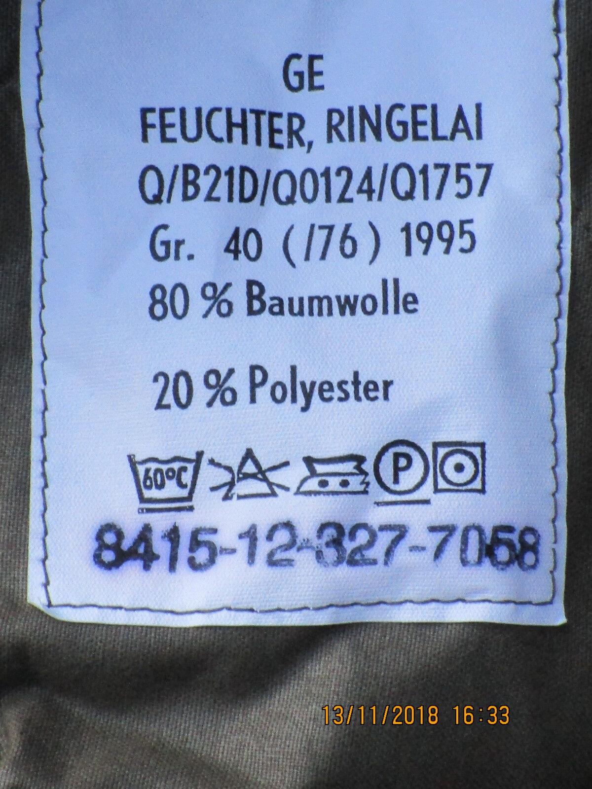 Bundeswehr Mujeres Pantalón de Campo Pantalón 40 Camuflaje Talla 40 Pantalón (76),Fecha 1995 e3b51a