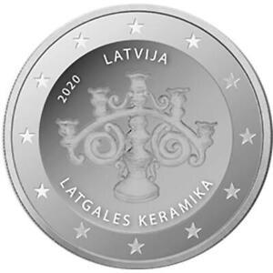 2-euro-Lettonia-2020-Ceramica-Lettone