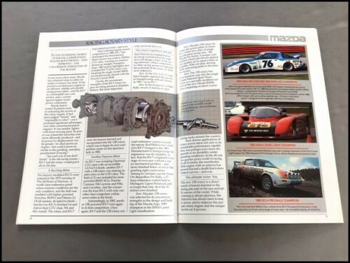 1986 Mazda Rx-7 Rx7 and Turbo 28-page Original Car Sales Brochure Catalog