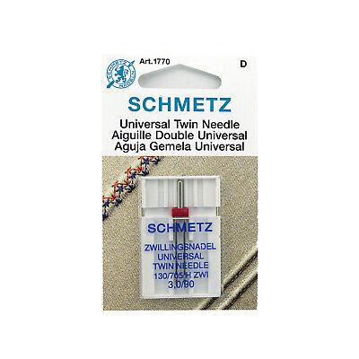 NEW Schmetz UNIVERSAL Twin Double Needles System 130//705 H ZWI 2.0//80 1716