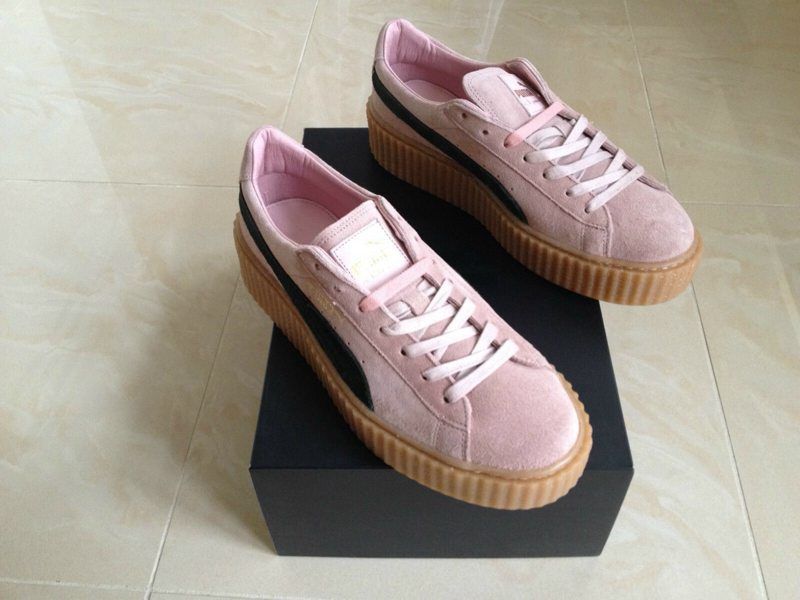 PUMA RIHANNA PINK SUEDE CREEPERS FENTY ALLTailleS TRAINERS NEW 3 4 5 6 7