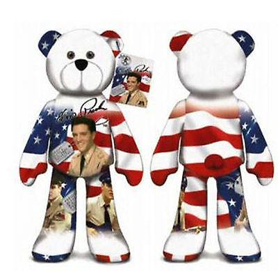 "#18  ELVIS IS Memorabilia  Plush 9/"" Collectible Elvis Presley Stuffed Bear"