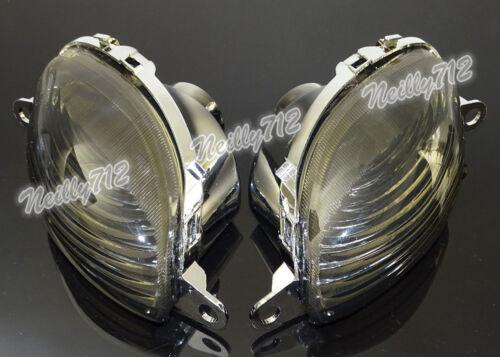 Front Turn Signals Indicator Lens Bulb Fit 99-07 SUZUKI Hayabusa GSXR GSX-R 1300