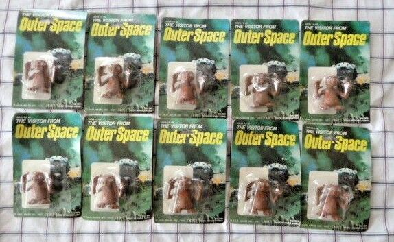 New Lot  ET Vintage The Visitor From Outer Space 1982 J.A.R. Sales INC