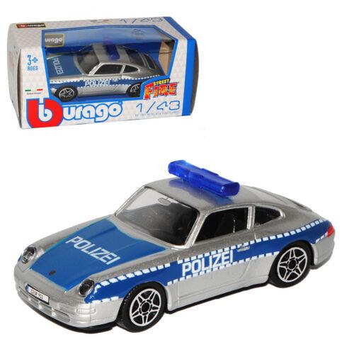 Porsche 911 993 Coupe policía azul 1993-1998 1//43 Bburago modelo coche con o o