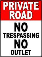Private Road No Trespassing Sign Aluminum Dcs 001
