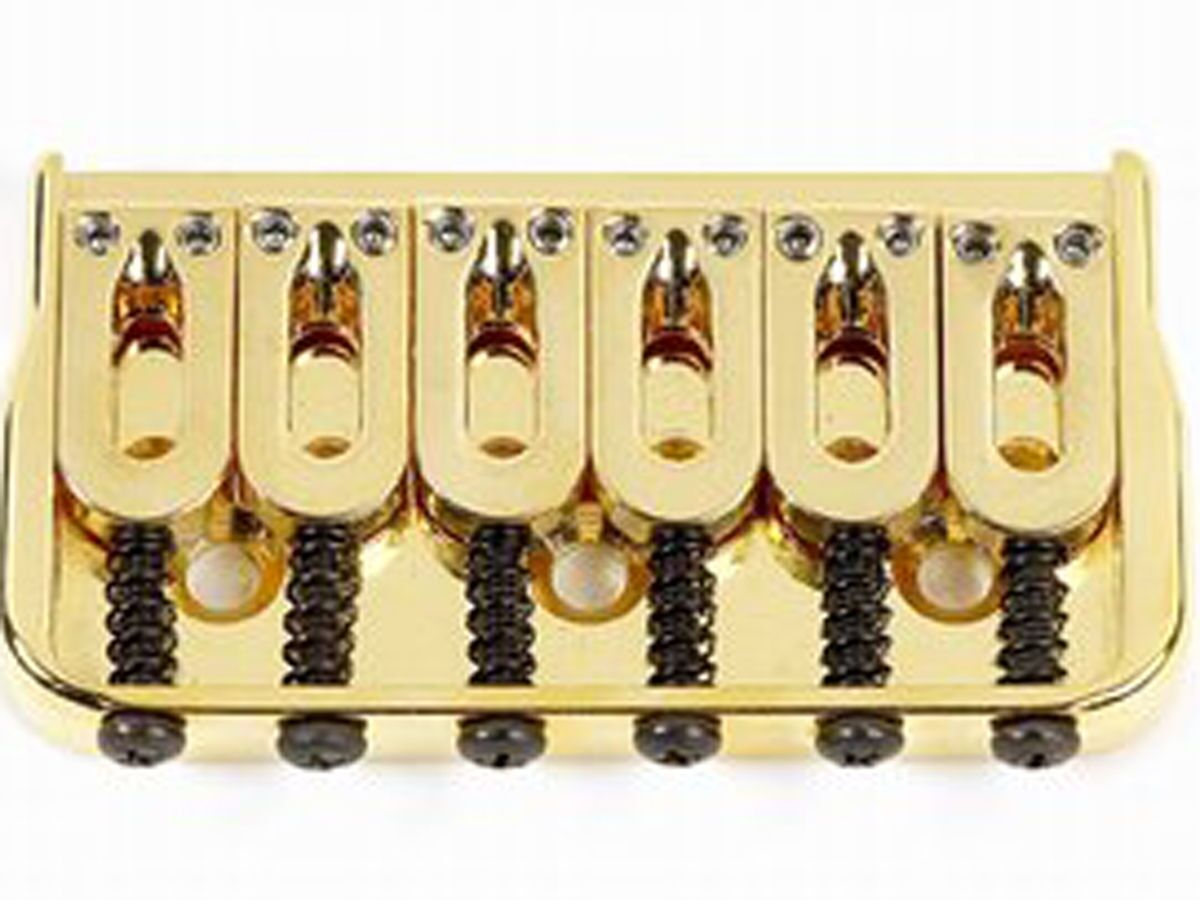 NEW Hipshot Gold HARDTAIL BRIDGE for Fender Tele Strat Stratocaster 41060G