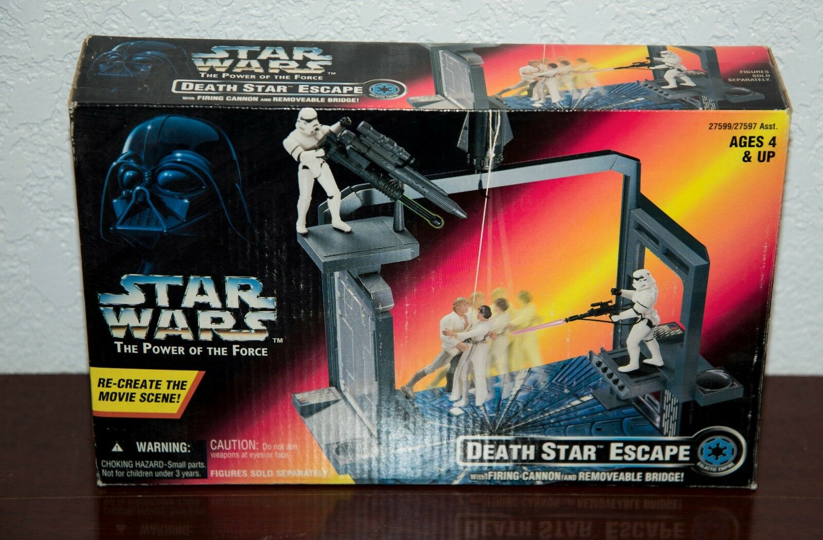 1996 STAR WARS POWER OF THE FORCE DEATH STAR STAR STAR ESCAPE PLAYSET MIB f18a3b