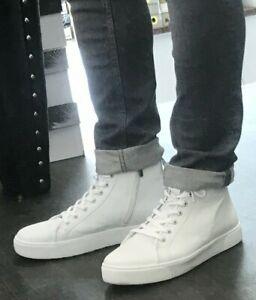 ANDREA CONTI STEXX Schuh 8829603 001 Weiß Echtleder HighTop Sneaker Herren