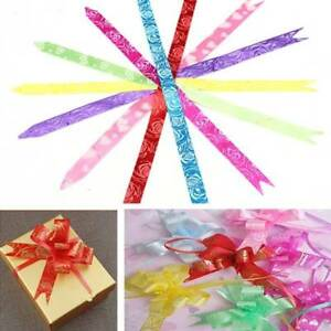 Details about 30mm Organza Pull Bow Ribbon Florist Flower Ribbons  Gold/Silver Mix Colour ribon