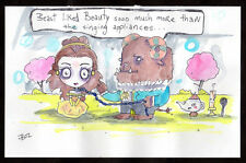 GUS FINK outsider art EMI BOZ lowbrow modern disney DEPRESSED SLEEPING BEAUTY