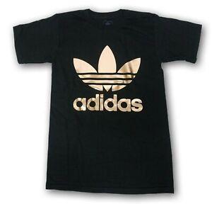 adidas shirt gold logo