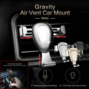 360° Universal Car Mount Holder Gravity Air Vent Stand For Mobile Cell Phones