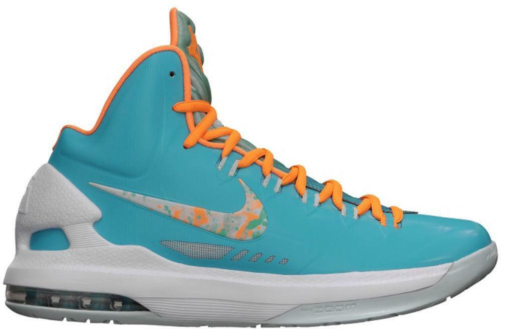 Mens NIKE KD V 'Easter' 554988 402 Turquoise blueee Basketball Trainers
