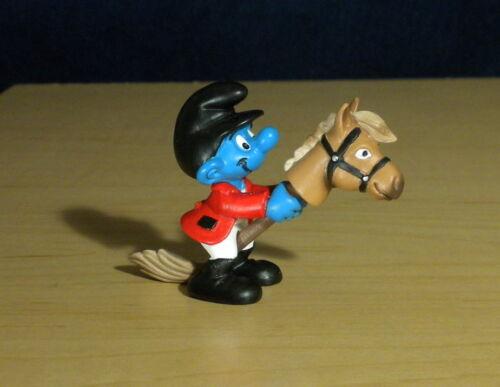 Smurfs 20743 Horse Rider Smurf Olympic Figure Vintage PVC Toy 2011 Schleich Peyo