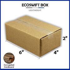 1 6x4x2 Ecoswift Brand Cardboard Box Packing Mailing Shipping Corrugated