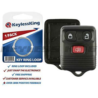 New Replacement Remote Keyless Key Fob Clicker Case Shell Rubber Pad Housing