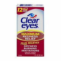 Clear Eyes Maximum Redness Relief Eye Drops 1 Oz