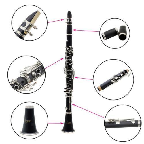 ABS Bakelit 17 Tasten Bb Klarinette schwarz Geschenk für Anfänger