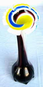 Vase en verre de Murano authentique - France - Vase en verre de Murano Authentique , Hauteur : 30 cm - France
