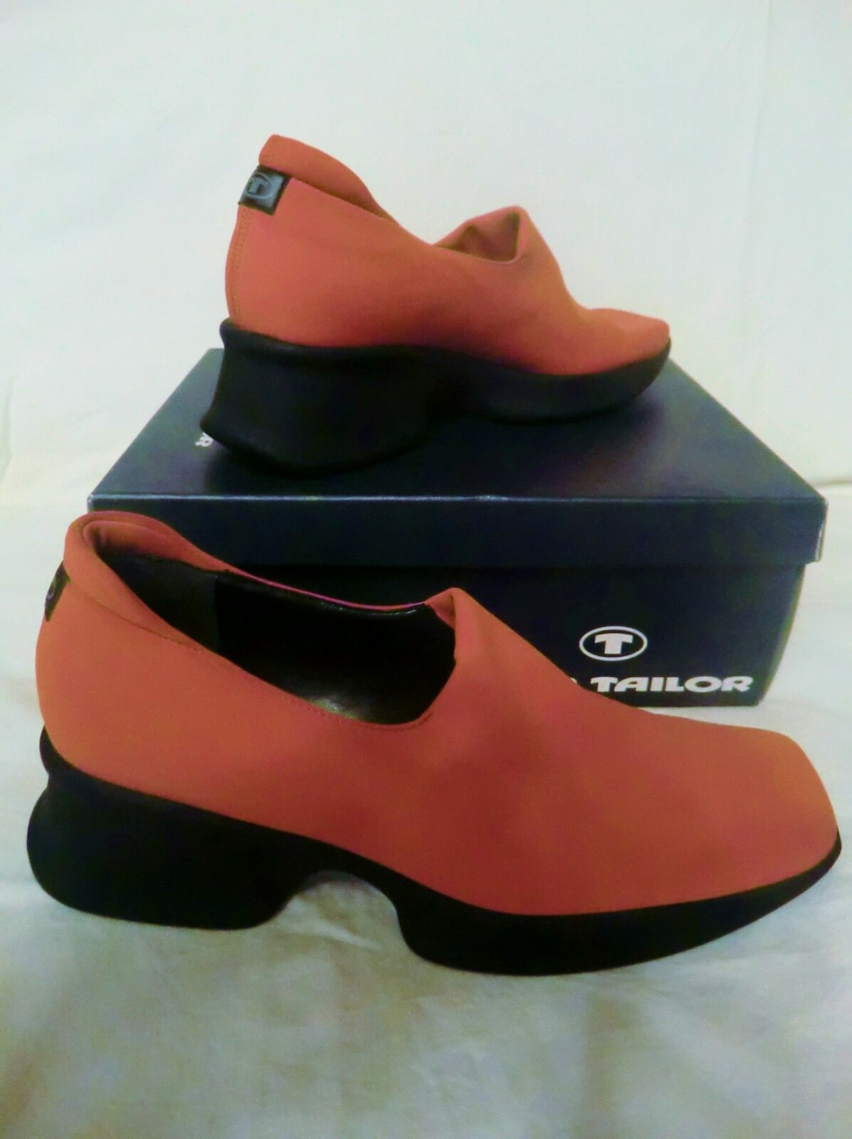 TOM  TAILER Schuhe SLIPPER stretch  TOM ORANGE Halbschuhe PUMPS Keilabsatz Gr.40 NEU 8af166