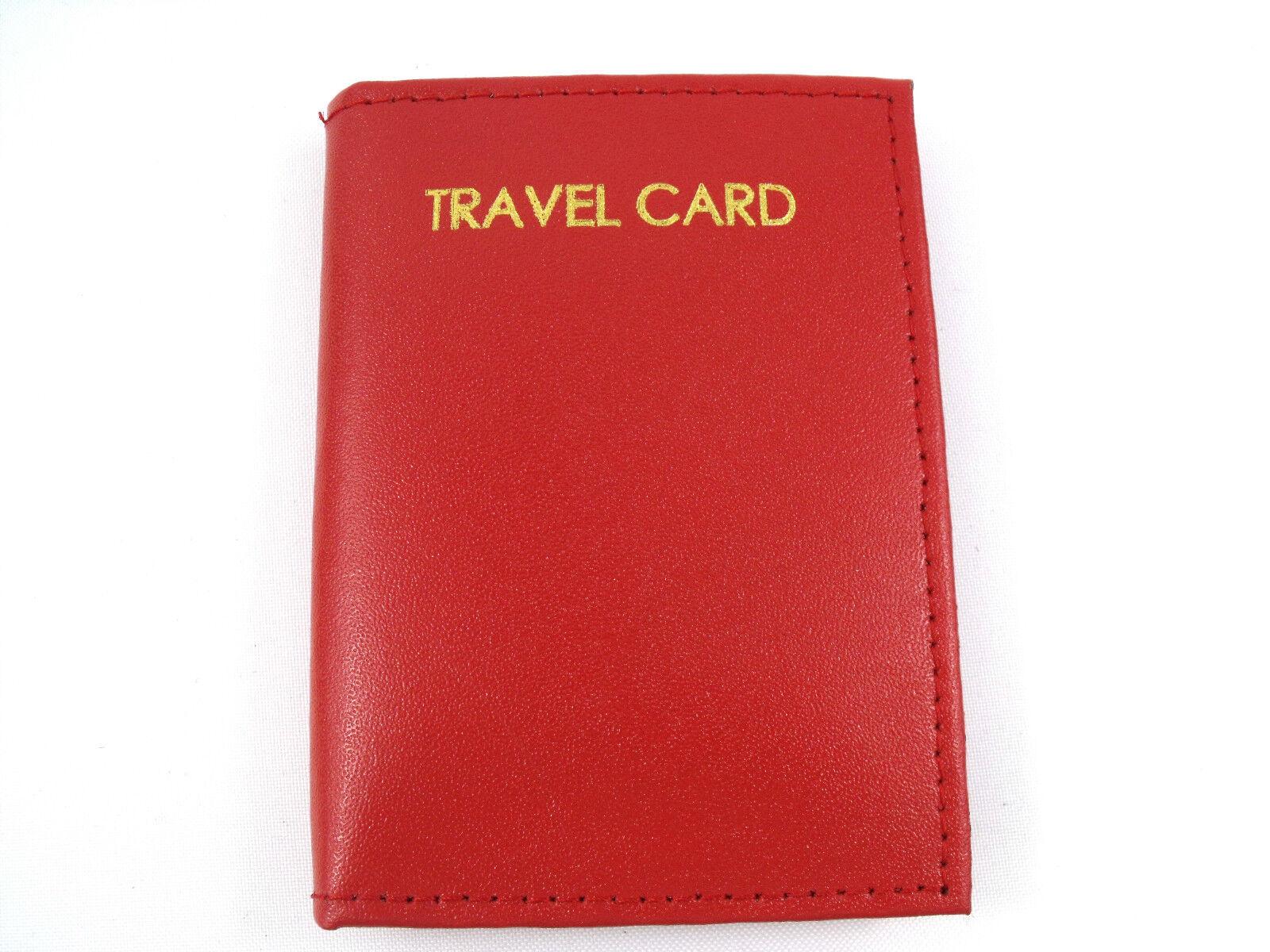 Unisexe Neuf Cuir Véritable Souple Voyage Carte Bud Pass Support Identité Crédit