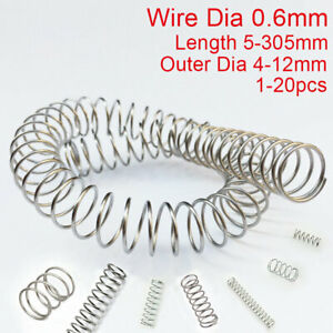 0 6mm Wire Compression Spring All 5 305mm 304 Stainless