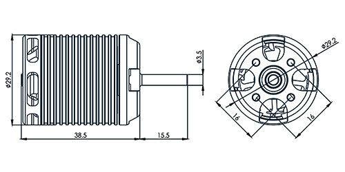 3200 kV Align 460MX Brushless Motor