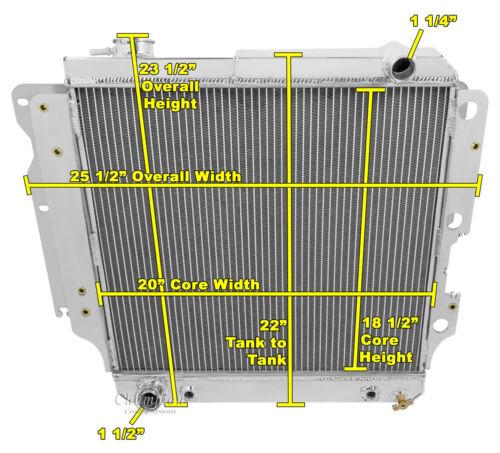 A//C Heavy Duty Cooling,1987-2006 Jeep Wrangler 4 Row Aluminum AR Radiator