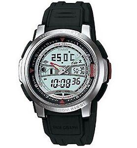 Casio-Watch-AQF100W-7BV-Temperature-Moon-amp-Tide-Black-Silicone-Men-COD-PayPal
