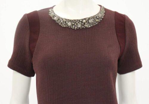 Jeweled 4 ontwerper Taylor Neck Top Prachtige Rebecca Maroon tsQrdh