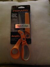 "FISKARS RAZOREDGE PREMIUM AMPLIFY 8"" FABRIC SHEARS SCISSORS ~ 7081"