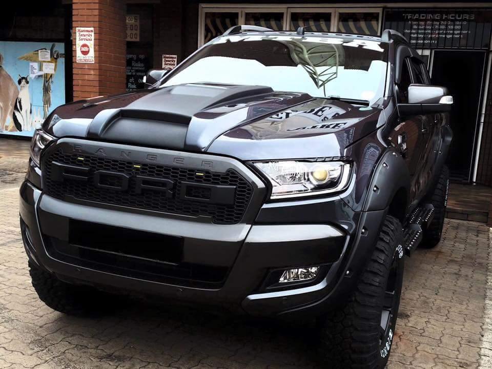 Front Black Bonnet Sid Vent Cover Trim Ford Ranger T6 Px Xlt Xls