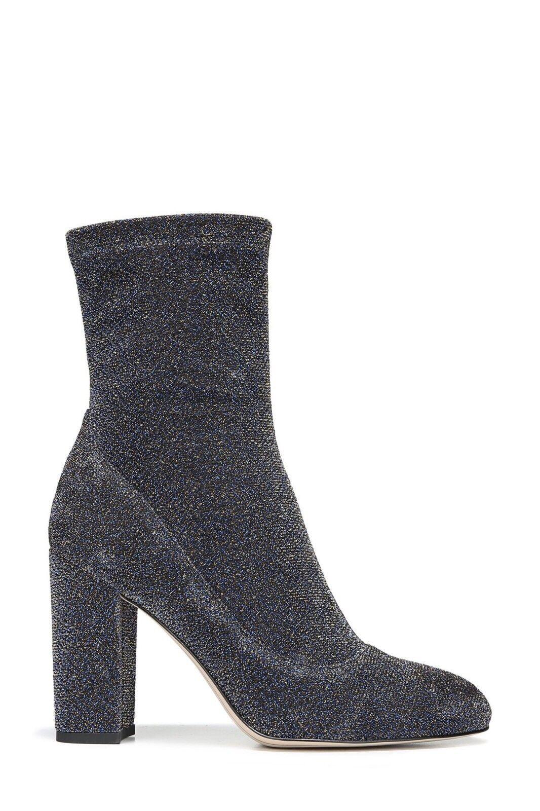 New Sam Edelman damen's Calexa Stretch Sock Stiefelies Blau Blau Blau Gold Glitter Größe 7 ec2f90