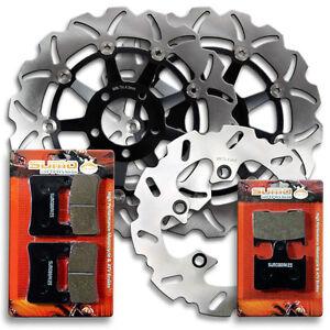 Suzuki-F-R-Brake-Disc-Rotor-Pads-GSXR-600-amp-GSXR-750-04-05-GSX-R-1000-2004